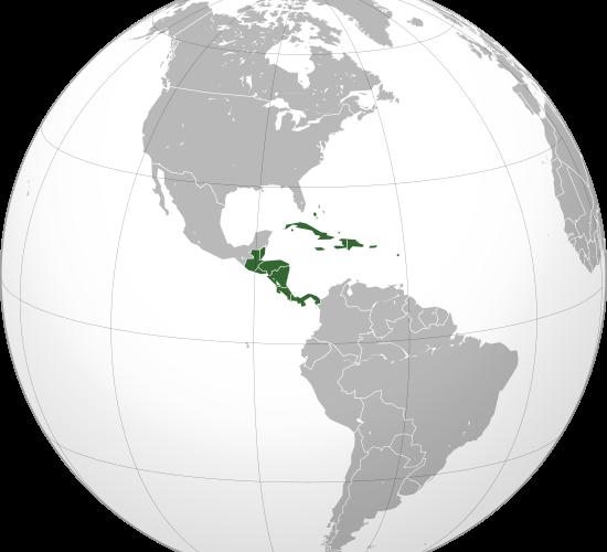 Ubicación de América Central y El Caribe