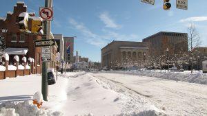 Baltimore durante la temporada de nieve.