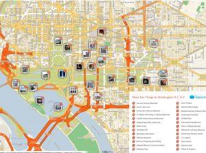 mapa de washington dc turistico