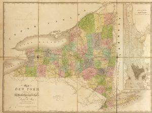 mapa de nueva york con sus calles