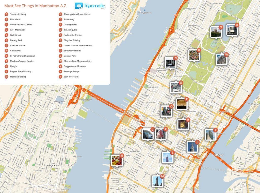 Mapa turístico de Manhattan