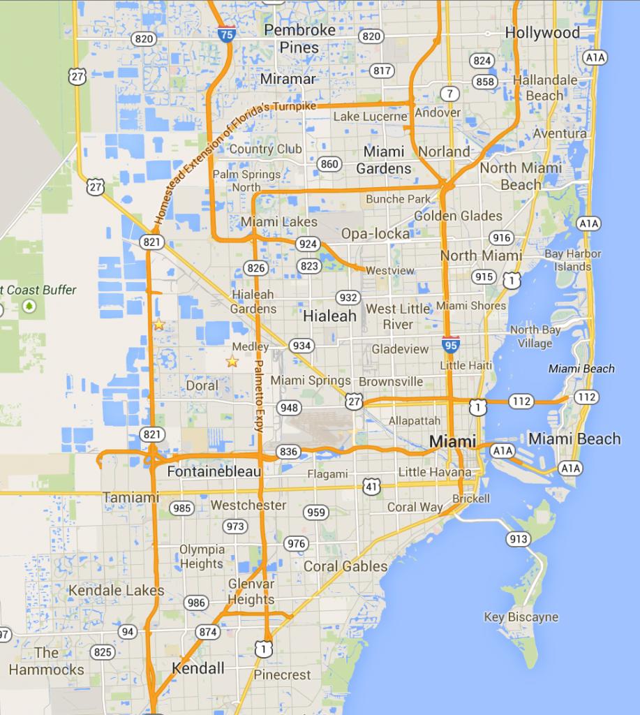 Mapa De Miami Turismoeeuu Plano Condados Calles