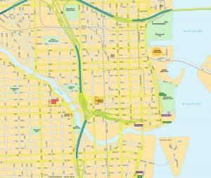 mapa de miami y alrededores