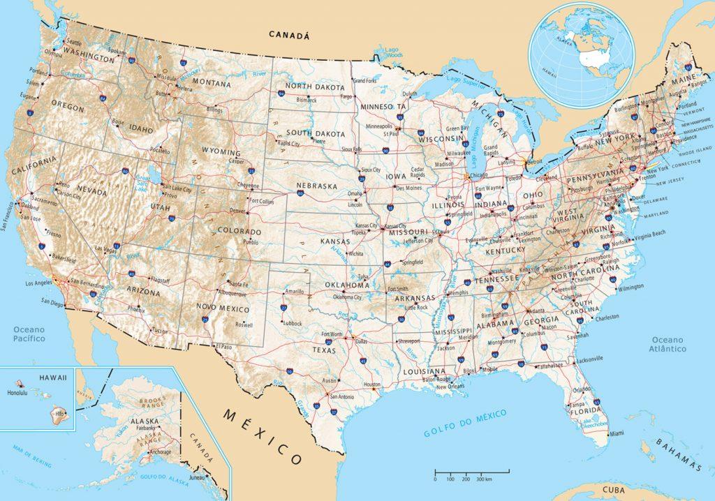 Del Mapa De Usa Noticias De Usa Maine Usa Carreteras De Usa - Mapa de la florida usa
