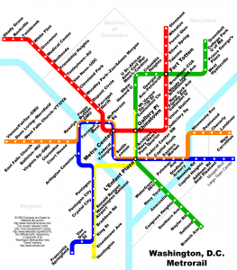 mapa de metro de washington dc